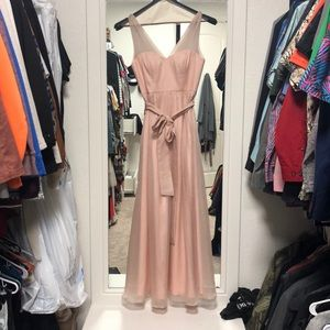 Blush floor length dress